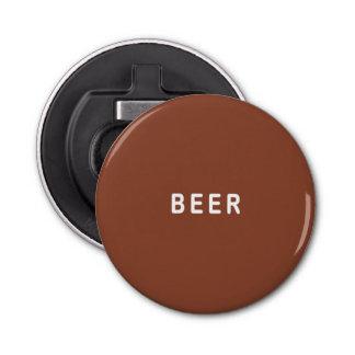 Brown Beer Button Bottle Opener