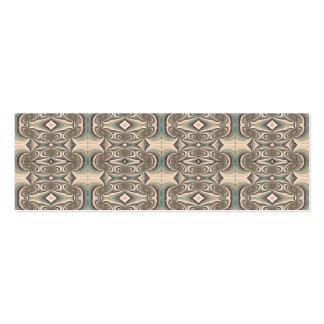 Brown, Beige and Blue Fabric. Elegant Design Mini Business Card