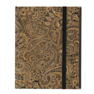 Brown, Beige & Black Floral Paisley Pattern Case For iPad