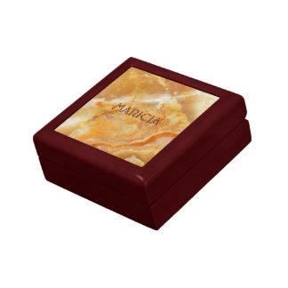 Brown & Beige Marble Image Gift Box