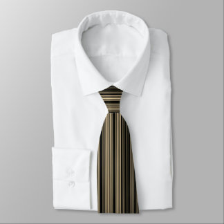 Brown Beige taupe retro stripe tie