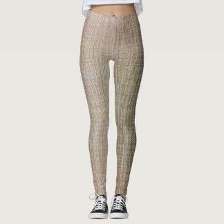 Brown - Beige Weavelike Leggings MUST SEE!