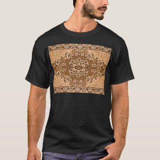 brown beige white oriental rug pattern vintage T-Shirt