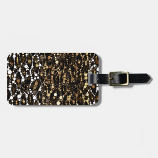 Brown Black Cheetah Abstract Luggage Tag