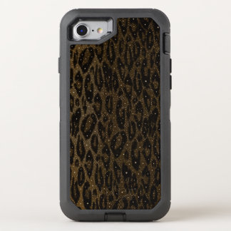 Brown Black Cheetah Stars OtterBox Defender iPhone 8/7 Case