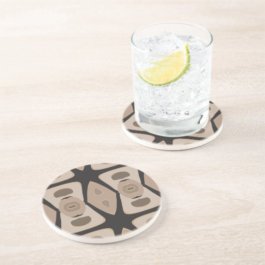 Brown, Black, Drinking Coaster - Hot Sand