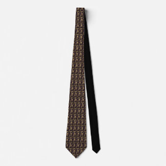Brown Black Graphic Necktie by DelynnAddams
