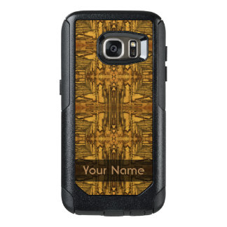 Brown Black Rustic Wood Pattern OtterBox Samsung Galaxy S7 Case