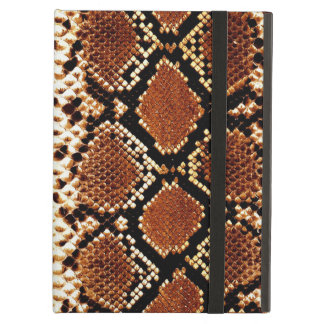 Brown black snake skin effect iPad air case