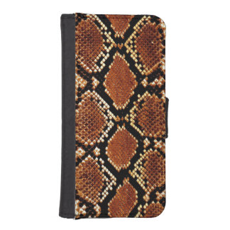 Brown black snake skin effect iPhone Wallet Case
