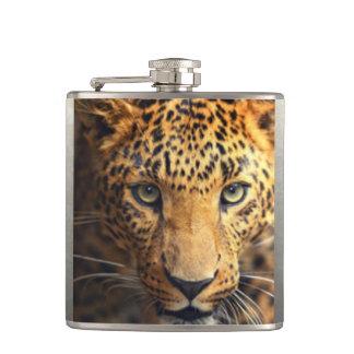 Brown Black Spotted Leopard Hip Flask