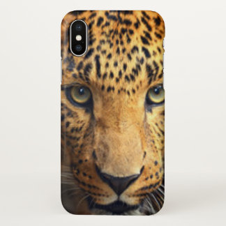 Brown Black Spotted Leopard iPhone X Case