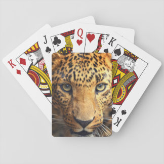 Brown Black Spotted Leopard Playing Cards
