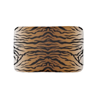 Brown Black Tiger Bath Mat