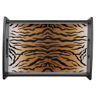 Brown Black Tiger Serving Tray