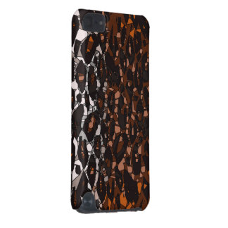 Brown Black White Cheetah Abstract iPod Touch 5G Case