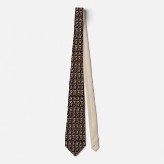 Brown Block Graphic Necktie