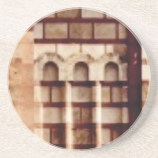 brown block window coaster
