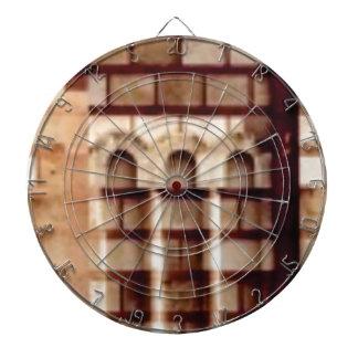 brown block window dartboard