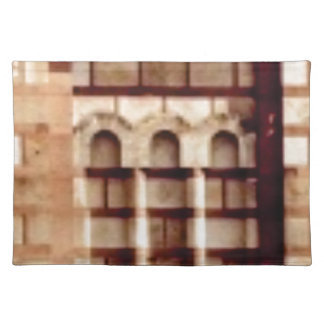 brown block window placemat