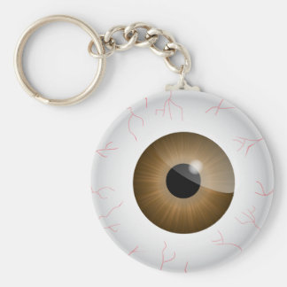 Brown Bloodshot Eyeball Key Chain