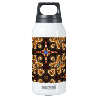 Brown,Blue, And Black Abstract Insulated Water Bottle
