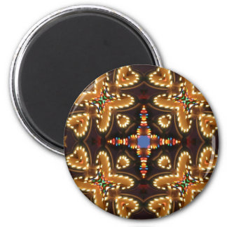 Brown,Blue, And Black Abstract Products 2 Inch Round Magnet