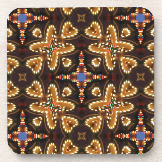Brown,Blue, And Black Abstract Products Beverage Coasters