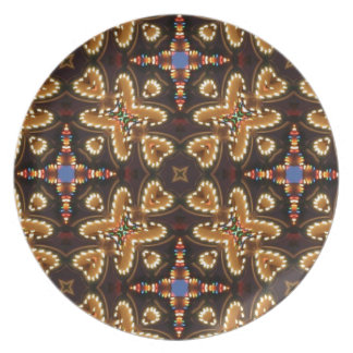 Brown,Blue, And Black Abstract Products Dinner Plates