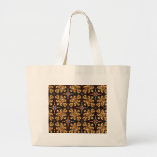 Brown,Blue, And Black Abstract Products Large Tote Bag