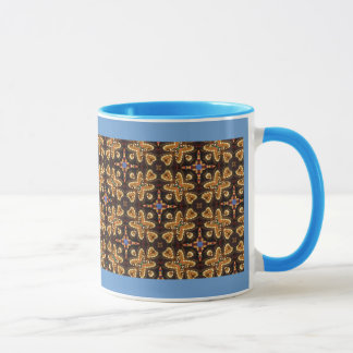 Brown,Blue, And Black Abstract Products Mug