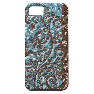 Brown Blue Glittery Sparkle iPhone 5 Cover