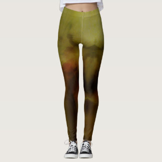 Brown Blur Background... Leggings