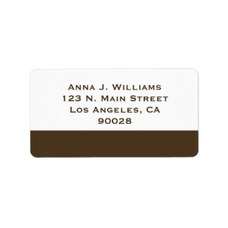 brown border label