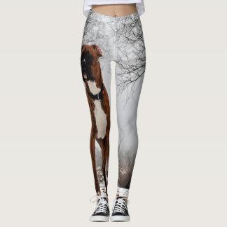 Brown Boxer dog Leggings