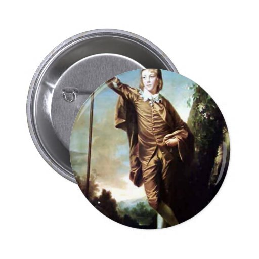 Brown Boy by Joshua Reynolds Button