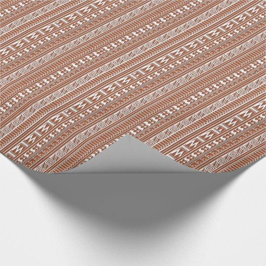 Brown Brick Geometric Aztec Tribal Print Pattern