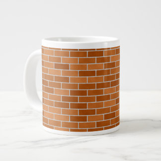 Brown Brick wall Large Coffee Mug