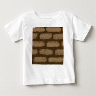 Brown Bricks Pattern Baby T-Shirt