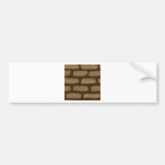 Brown Bricks Pattern Bumper Sticker