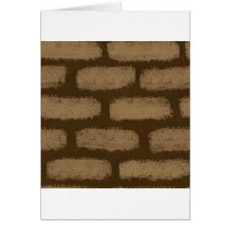 Brown Bricks Pattern Card