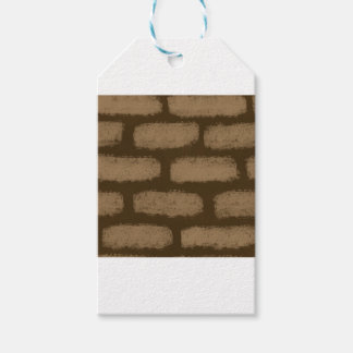 Brown Bricks Pattern Gift Tags