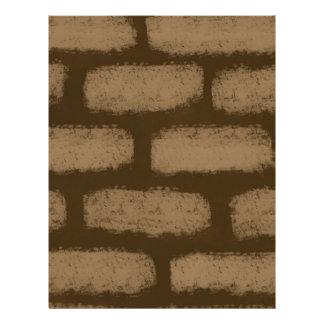 Brown Bricks Pattern Letterhead