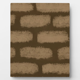 Brown Bricks Pattern Plaque