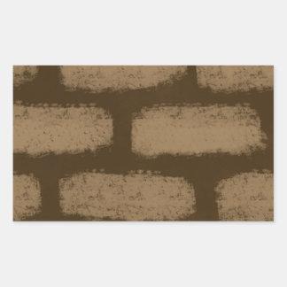 Brown Bricks Pattern Sticker