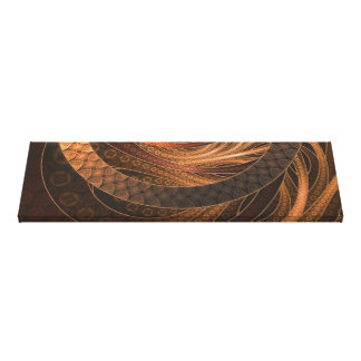 Brown, Bronze, Wicker, and Rattan Fractal Circles Canvas Print