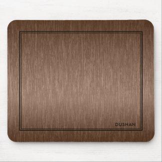 Brown Brushed Metallic Texture Print Mouse Pad