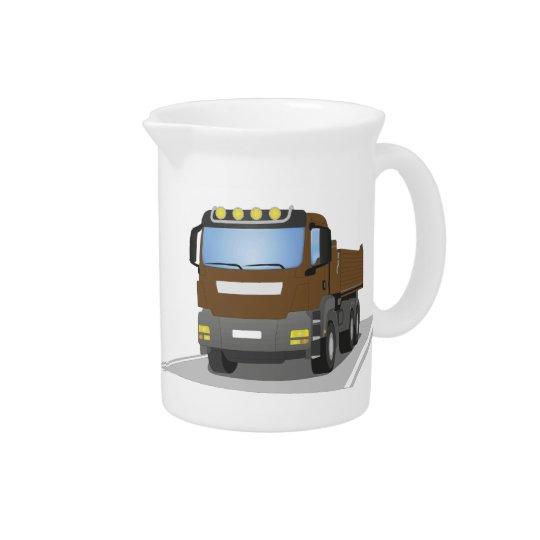 brown building sites truck drink pitcher