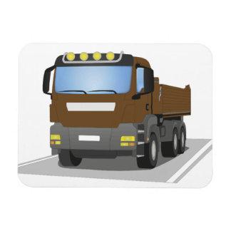 brown building sites truck rectangular photo magnet