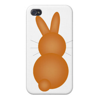 Brown Bunny Back iPhone 4 Cover